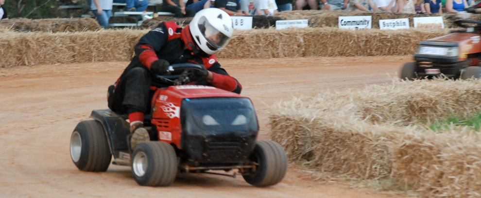 Mower racing at Bowles Farms in Clements, MD
